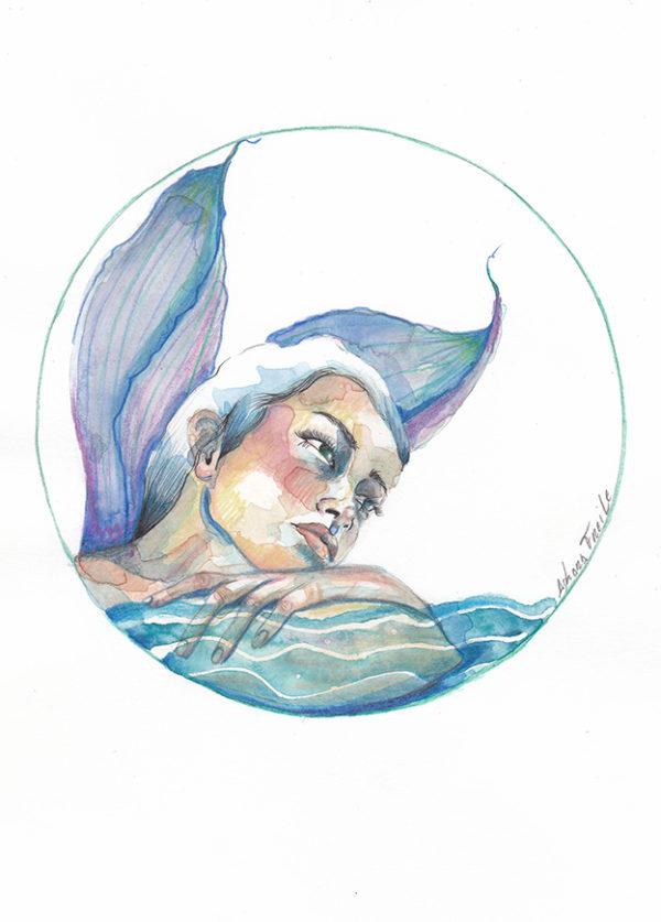 Sirena ilustracion de Adhara Freile